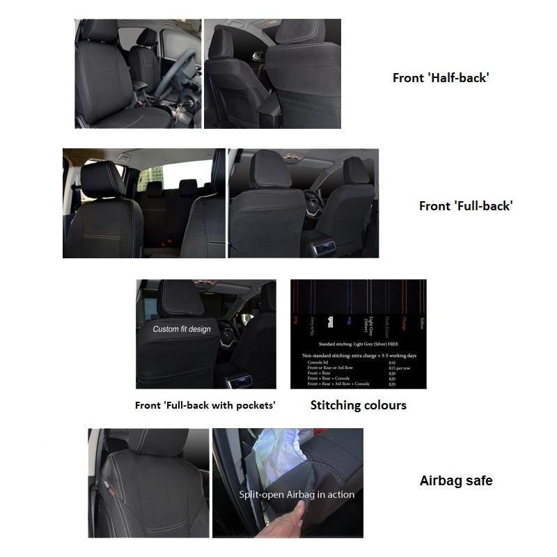 2 Front Seat Cover Designs Features Supertrim