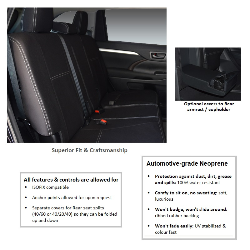 4 Rear Seat Covers Generic Supertrim