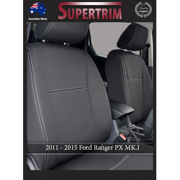 Ford Ranger Px Mk I Jul 2011 Aug 2015 Front Seat Covers Full Back With Map Pockets Snug Fit