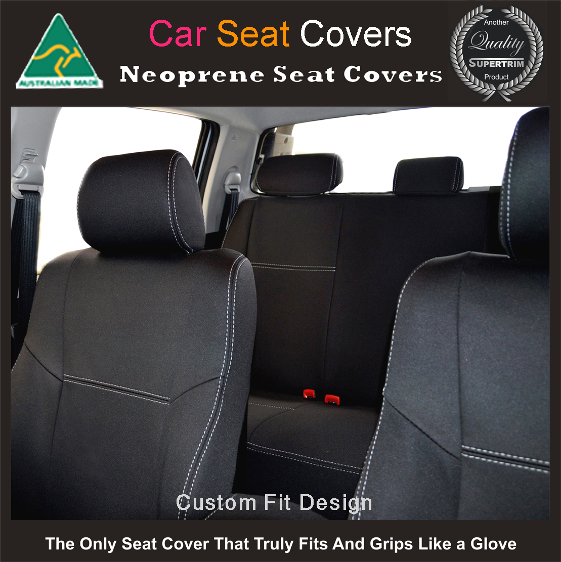 Toyota Rav4 Seat Covers >> Holden Captiva ( 2017 model available) 2nd Row Seat Covers Premium Neoprene (Automotive-grade ...