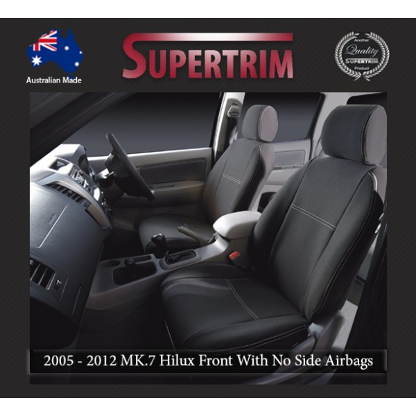 Terrific Seat Covers Front 2 Bucket Seats With No Side Airbags Snug Fit For Hilux Mk 7 April 2005 July 2011 Premium Neoprene Automotive Grade 100 Dailytribune Chair Design For Home Dailytribuneorg