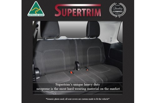 3rd ROW Seat Covers (light grey thread) for Toyota Landcruiser 100 Series Premium Neoprene Waterproof