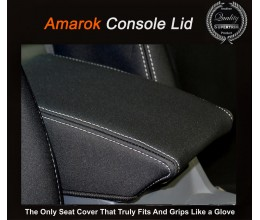 2011 - Now Volkswagen Amarok Console Lid Cover (Single / Extra / Dual – Cab -  Ute / Cab Chassis) Premium Neoprene (Automotive-Grade) 100% Waterproof