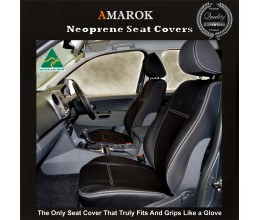 Volkswagen Amarok Snug fit Seat Covers FRONT PAIR $189 (2018 model available)  Charcoal black, Waterproof Premium quality Neoprene (Wetsuit), UV Treated