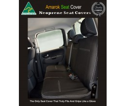Volkswagen Amarok TAILOR-MADE Rear Seat Covers (NEW: 2018 model available) -  100% Perfect fit, Charcoal black, 100% Waterproof Premium quality Neoprene (Wetsuit), UV Treated