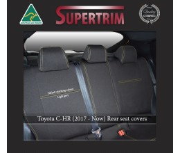REAR seat covers Full-length Custom Fit Toyota C-HR (2017-NOW), Premium Neoprene, Waterproof | Supertrim