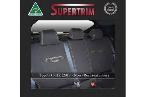 Toyota C-HR REAR seat covers Full-length Custom Fit (2017-NOW), Premium Neoprene, Waterproof | Supertrim