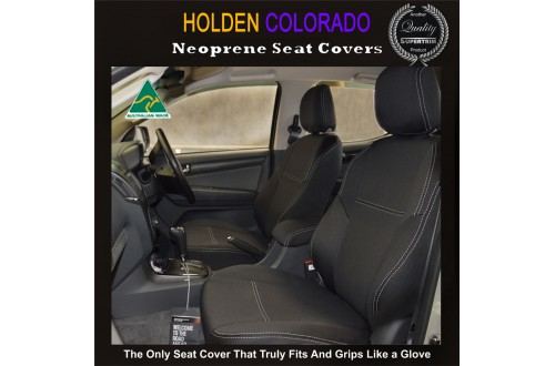 Holden Captiva 5 TAILOR-MADE Seat Covers  - FRONT PAIR 100% Perfect fit, Charcoal black,  Waterproof Premium quality Neoprene (Wetsuit), UV Treated
