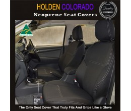 Holden Colorado Isuzu D-max MU-X Snug fit Seat Covers $189 (2017 model available) - FRONT PAIR Charcoal black,Waterproof Premium quality Neoprene (Wetsuit), UV Treated
