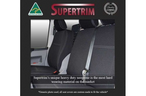 Seat Covers FRONT Bucket & Bench Snug Fit for MN Triton (2009 - 2014) Premium Neoprene (Automotive-Grade) 100% Waterproof