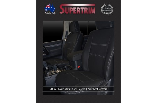 Mitsubishi Pajero Neoprene Custom Car Seat Covers FRONT full-back map pockets
