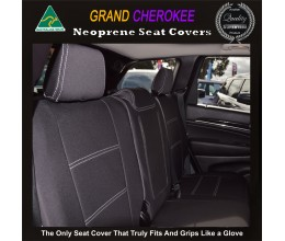 Jeep Grand Cherokee TAILOR-MADE Rear Seat Covers (NEW: 2017 model available) - 100% Perfect fit, Charcoal black,100% Waterproof Premium quality Neoprene (Wetsuit), UV Treated