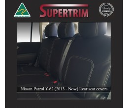 Middle Row Seat Covers Full-length Custom Fit Nissan Patrol Y62 (2013-Now), Premium Neoprene | Supertrim