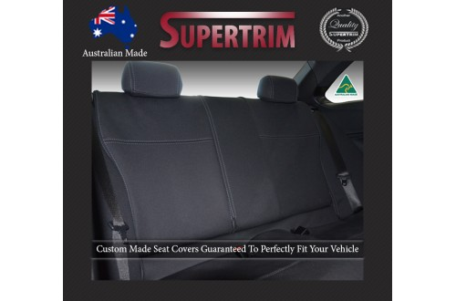 Ford Mustang Hardtop (2015-NOW) REAR Seat Covers, Snug Fit, Premium Neoprene (Automotive-Grade) 100% Waterproof