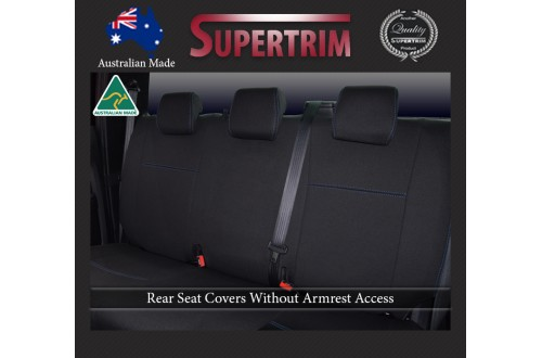 Ford Ranger Raptor (2019-NOW), REAR Dual Cab Seat Covers, Snug Fit, Premium Neoprene (Automotive-Grade) 100% Waterproof
