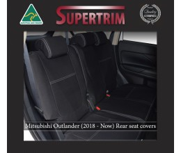 Mitsubishi Outlander Middle Row Seat Covers Full-length Custom Fit (2018-Now), Premium Neoprene | Supertrim