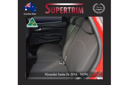 Full-length Seat Covers Middle Row Snug Fit For Hyundai Santa Fe TM (2018 - Now), Premium Neoprene (Automotive-Grade) 100% Waterproof