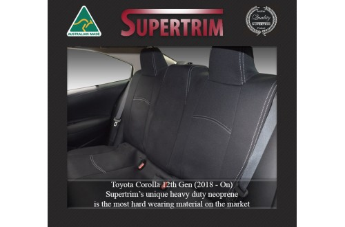 Toyota Corolla REAR seat covers Full-length Custom Fit (Nov 2018 - Now), Premium Neoprene, Waterproof | Supertrim