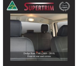 FRONT Seat Covers Snug Fit for DODGE Ram (2012-Now), Premium Neoprene (Automotive-Grade) 100% Waterproof