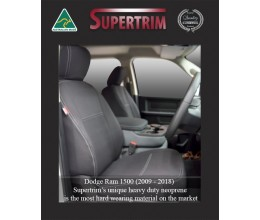 FRONT Seat Covers Full-back Snug Fit for DODGE Ram (2012-Now), Premium Neoprene (Automotive-Grade) 100% Waterproof