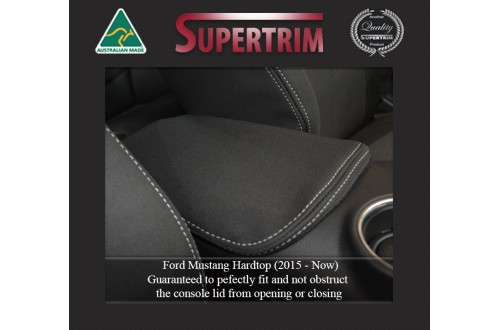 Ford Mustang Hardtop (2015-NOW) CONSOLE Lid Cover Custom Fit, Premium Neoprene (Automotive-Grade) 100% Waterproof