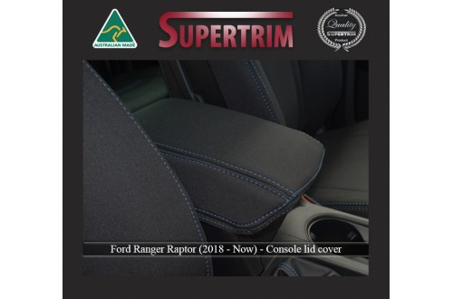 Ford Ranger Raptor (2019-NOW) CONSOLE Lid Cover Custom Fit, Premium Neoprene (Automotive-Grade) 100% Waterproof