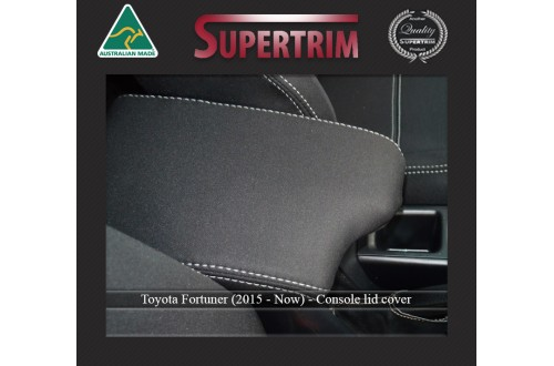CONSOLE Lid Cover Snug Fit For (Oct 2015 - Now) Toyota Fortuner (AN160), Premium Neoprene (Automotive-Grade) 100% Waterproof