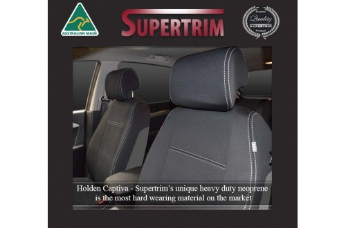 HOLDEN CAPTIVA WATERPROOF UV TREATED FRONT PAIR OF SEAT COVERS WITH SEPARATE HEADRESTS