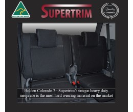 Seat Covers 3rd Row Snug Fit for Holden Colorado 7 (Dec 2012 - Now), Premium Neoprene (Automotive-Grade) 100% Waterproof