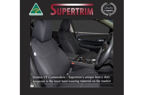 VF Holden Commodore FRONT Seat Covers, Snug Fit, Premium Neoprene (Automotive-Grade) 100% Waterproof