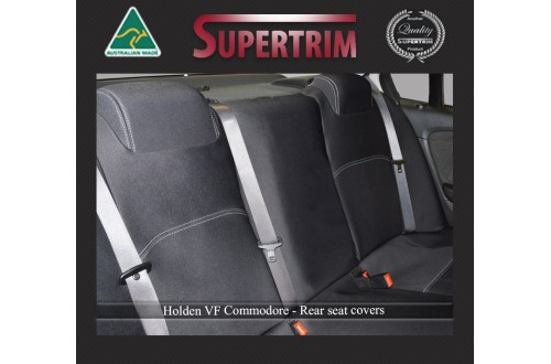 VF Holden Commodore REAR Seat Covers, Snug Fit, Premium Neoprene (Automotive-Grade) 100% Waterproof