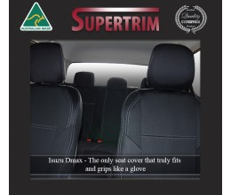 FRONT Seat Covers Full-back with Map Pockets Snug Fit for Isuzu D-Max (May 2012 - Now), Premium Neoprene (Automotive-Grade) 100% Waterproof
