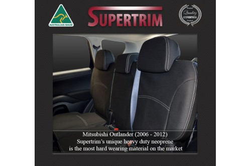 MITSUBISHI Outlander ZG/ZH (2006-2012) REAR NEOPRENE WATERPROOF UV TREATED WETSUIT CAR SEAT COVER