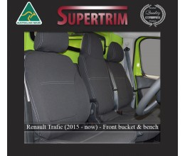 Seat Covers FRONT Bucket & Bench Snug Fit for Renault Trafic (2015-Now) Premium Neoprene (Automotive-Grade) 100% Waterproof