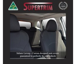 Subaru Levorg FRONT Standard & REAR Full-back Seat Covers Custom Fit (2016-Now), Premium Neoprene, Waterproof | Supertrim