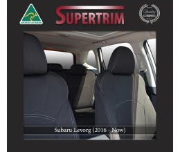 Subaru Levorg FRONT Full-back with Map Pockets & REAR Full-back Seat Covers Custom Fit (2016-Now), Premium Neoprene, Waterproof | Supertrim
