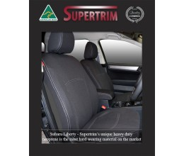 SUBARU LIBERTY SEAT COVERS - FRONT PAIR, BLACK Waterproof Neoprene (Wetsuit), UV Treated