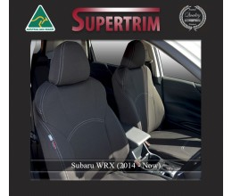 Subaru WRX FRONT Full-back with Map Pockets Seat Covers Custom Fit (2014-Now), Premium Neoprene, Waterproof | Supertrim