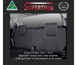 3rd Row Full-Back Seat Covers Snug Fit For (Oct 2015 - Now) Toyota Fortuner (AN160), Premium Neoprene (Automotive-Grade) 100% Waterproof