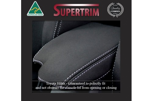 Toyota Hilux Series - MK.8 (2015-Now) Console Lid Cover (Single / Extra / Dual – Cab -  Ute / Cab Chassis) Premium Neoprene (Automotive-Grade) 100% Waterproof