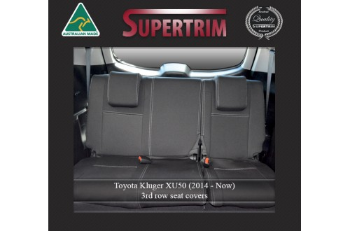 3rd Row Seat Covers Snug Fit for Toyota Kluger (Mar 2014 - Now), Premium Neoprene (Automotive-Grade) 100% Waterproof