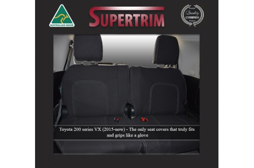 3rd Row Full-Back Seat Covers Snug Fit For (Oct 2015 - Now) Landcruiser J200 (200 Series) - MK.III Altitude & VX, Premium Neoprene (Automotive-Grade) 100% Waterproof