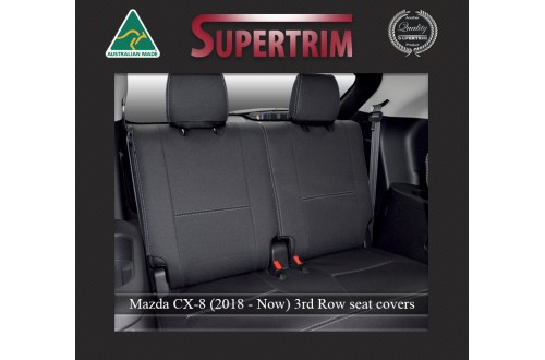 Mazda CX-8 3rd Row Seat Covers Full-length Custom Fit (2018-Now), Premium Neoprene, Waterproof | Supertrim