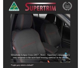 MITSUBISHI Eclipse Cross GK-YA (2017-Now) SEAT COVERS - FRONT PAIR, BLACK Waterproof Neoprene (Wetsuit), UV Treated