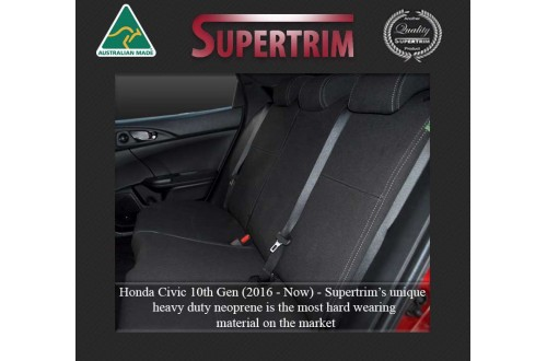 HONDA Civic 10th Gen REAR NEOPRENE WATERPROOF UV TREATED WETSUIT CAR SEAT COVER