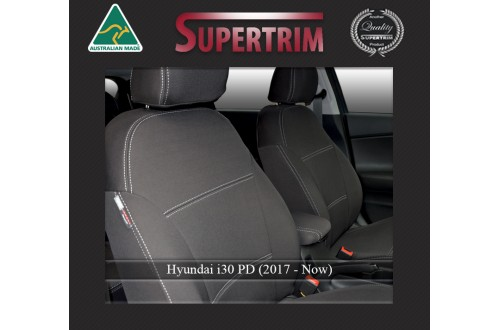 FRONT Seat Covers Full-Length Custom Fit Hyundai i30 PD (2017-Now), Premium Neoprene | Supertrim