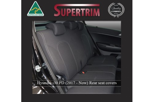 Hyundai i30 PD REAR seat covers Full-length Custom Fit (2017-Now), Premium Neoprene, Waterproof | Supertrim