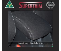 CONSOLE Lid Cover Snug Fit for Isuzu D-Max (May 2012 - Now), Premium Neoprene (Automotive-Grade) 100% Waterproof