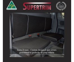 REAR Extra (Space) Cab Seat Covers Snug Fit for Isuzu D-Max RC (May 2012 - Now), Premium Neoprene (Automotive-Grade) 100% Waterproof