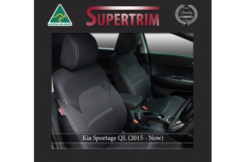 Kia Sportage QL FRONT Seat Covers Full-Length Custom Fit (2015-Now), Premium Neoprene | Supertrim